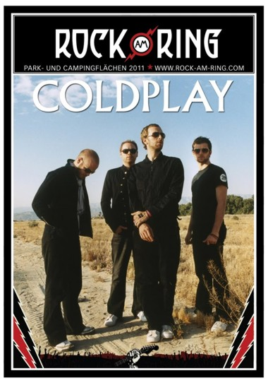 Coldplay - Live Rock AM Ring 2011 affiche